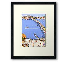 Blue river cruising Framed Print