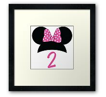 Minnie Mouse 2nd Birthday Framed Print