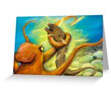 Eel vs Octopus Greeting Card