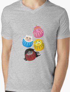 Adventure Daruma Mens V-Neck T-Shirt