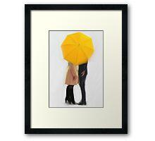 The Yellow Umbrella   Swan Queen Framed Print