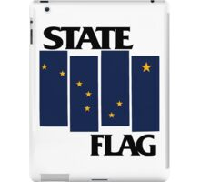 Alaska State Flag (Black Flag inspired) iPad Case/Skin