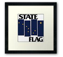 Alaska State Flag (Black Flag inspired) Framed Print