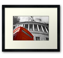 Red telephone box and Manchester library Framed Print