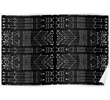 Black and White Tribal  Poster