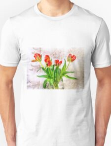 HDR French Red Tulips  T-Shirt