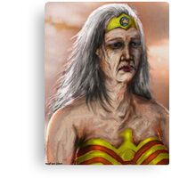 Old Wonder Woman Canvas Print