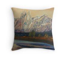 Organ Mountain  Throw Pillow