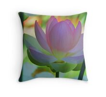 Pastel Lotus Throw Pillow