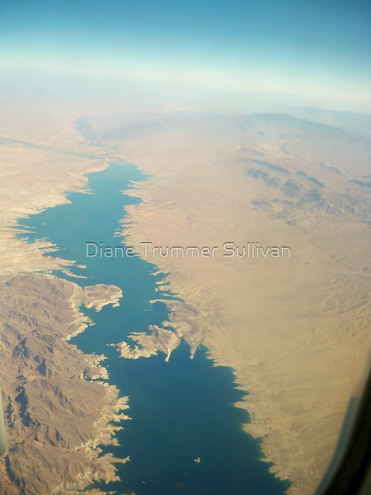 Lake Mead View from the Air by Diane Trummer Sullivan
