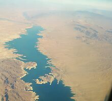 Lake Mead View from the Air by kodakcameragirl