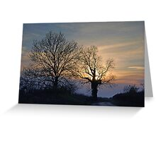 twilight lane Greeting Card