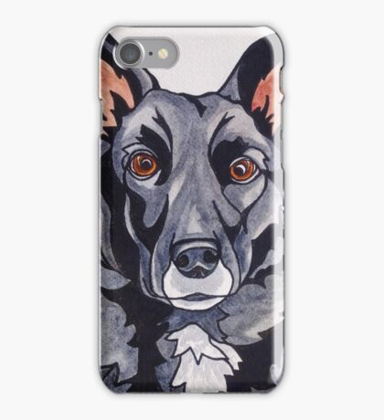 #6: JACKSON the Border Collie Labrador mix: Messages from the Dogs Oracle Deck iPhone Case/Skin