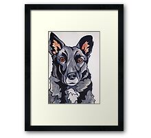 #6: JACKSON the Border Collie Labrador mix: Messages from the Dogs Oracle Deck Framed Print