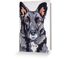 #6: JACKSON the Border Collie Labrador mix: Messages from the Dogs Oracle Deck Greeting Card