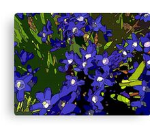 Ground Cover Violets Canvas Print