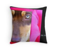 CAN YOU READ ME? Throw Pillow