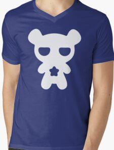 Lazy Bear Baby Blue Mens V-Neck T-Shirt