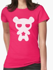Lazy Bear Baby Blue Womens Fitted T-Shirt