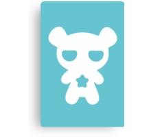Lazy Bear Baby Blue Canvas Print