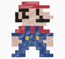 Pixel Mario rough by BenVenom