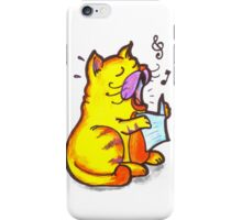 Tabby the singing kitty cat iPhone Case/Skin