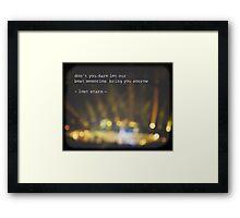 MAROON MUSIC - Lost Stars Framed Print