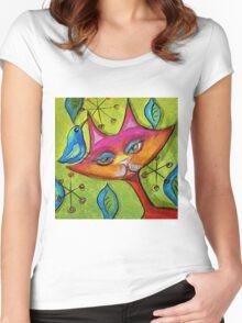Catbird Song Women's Fitted Scoop T-Shirt