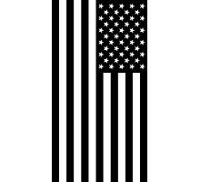 Black And White American Flag Photographic Print