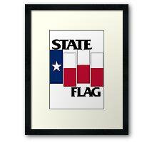 Texas State Flag (Black Flag inspired) Framed Print