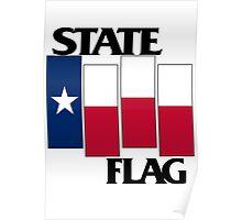 Texas State Flag (Black Flag inspired) Poster