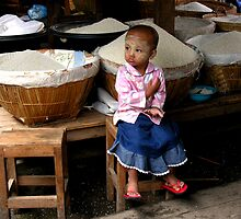 RICE BABY 2 - BURMA by Michael Sheridan