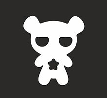 Lazy Bear Black and White by XOOXOO