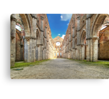 Abbey of Saint Galgano - The Nave and the Aisles - San Galgano Canvas Print