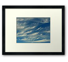 Nature's Paintbrush At Work Framed Print