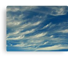 Nature's Paintbrush At Work Canvas Print