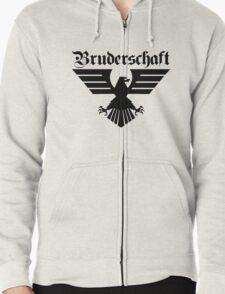 Brotherhood Eagle (Bruderschaft Bundesadler) - Black/Schwartz Zipped Hoodie