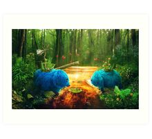 Swamp Things Art Print