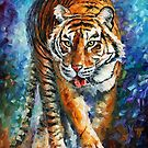 Strong Tiger — Buy Now Link - www.etsy.com/listing/185827067 by Leonid  Afremov