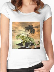 Jaguar on the Prowl Women's Fitted Scoop T-Shirt