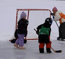 pond hockey kids by Ottawa Valley Photographer