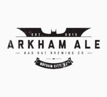Arkham Ale - Black on White T-Shirt