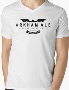 Arkham Ale - Black on White Mens V-Neck T-Shirt
