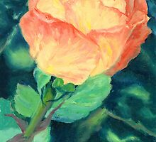 Apricot Rose by Gemma Art
