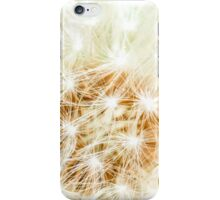 Elegant White Dandelion Florets  iPhone Case/Skin