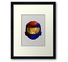 Halo - Red vs Blue Framed Print