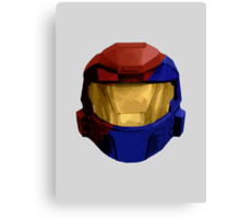 Halo - Red vs Blue Canvas Print