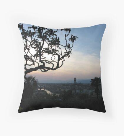 Sunset Over Florence Throw Pillow