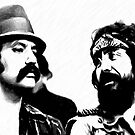 Cheech and Chong by mobii