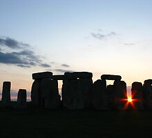 Sunset at Stonehenge by Lang Cheung